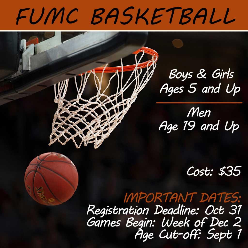 FUMC Basketball Registration 2019-2020
